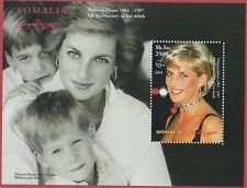 PRINCESS DIANA 5th ANNIVERSARY OF DEATH WILLIAM/HARRY SOMALIA MNH STAMP SHEET