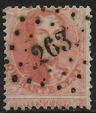 Belgium stamps 1863 OBP 16 P.12 1/2 Strongly SHIFTED CANC VF