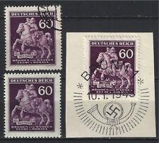 Bohemia Moravia / Deutsches Reich 1943,Mi 113 MNH + FU+Special Cancel On Piece,