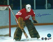 Signed  8x10 ROGIE VACHON Detroit Red Wings Photo - COA