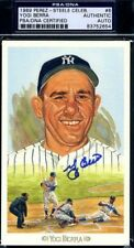 YOGI BERRA PSA/DNA AUTHENTICATED SIGNED PEREZ STEELE CELEBRATION AUTOGRAPH