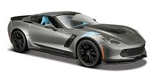 Maisto 1:24 2017 Corvette GT Grand Sport Diecast Model Racing Car Vehicle Gray