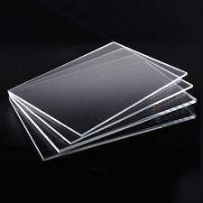 1-4mm Thick Clear Perspex Acrylic Plastic Plexiglass A4 Sheet Size Lot