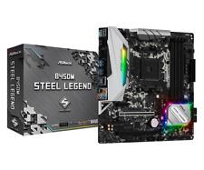 ASRock B450M AMD Socket AM4 Steel Legend ATX Gaming Motherboard CrossfireX DDR4