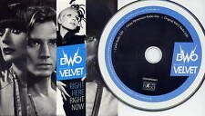 BWO feat VELVET Right Here Right Now UK 3-trk promo CD Bodies Without Organs