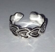 Beautiful & High Quality Sterling Silver Hearts Design Adjustable Toe Ring