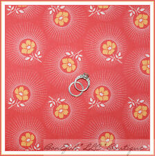 BonEful Fabric FQ Cotton Quilt PINK Yellow White VTG Flower Deer Leaf Valley Dot