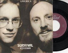 AMERICA disco 45 giri STAMPA ITALIANA Survival MADE in ITALY Sanremo 1982