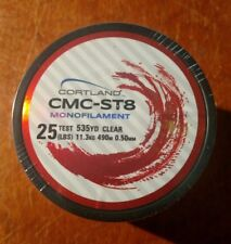 25 LBS Test x 535 YD Cortland CMC-ST8 Monofilament Fishing Line - New in Package