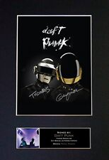 #353 DAFT PUNK Reproduction Signature/Autograph Mounted Signed Photograph A4