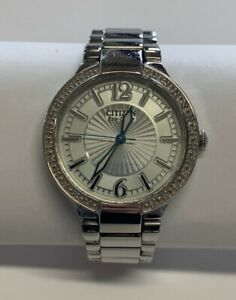 Ladies Citizen Eco-Drive Diamond Watch E031 Stainless Steel Running