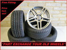 """1145 Brand New 18"""" Alloy Wheels And Tyres To Fit Mercedes A Class C Class 5x112"""