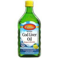 Wild Norwegian Cod Liver Oil  by Carlson Labs Natural Lemon 500ml
