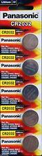 5 Panasonic Lithium 3v Battery Cr-2032 Cr2032 Coin Cell 2032