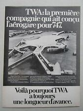 3/1971 PUB TWA BOEING 747 AEROGARE FLIGHT WING ONE EERO SAARINEN JFK FRENCH AD