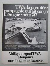 3/1971 PUB TWA BOEING 747 AEROGARE FLIGHT WING ONE EERO SAARINEN JFK FRENCH AD