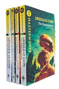 Ursula K Le Guin 4 Books SF Masterworks The Dispossessed Lathe of Heaven +2 New