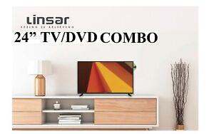 "Linsar 24"" HD DIGITAL FHD LED LCD TV DVD PLAYER COMBO 12V -240v"