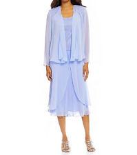 S.L. Fashions New 3pc Sequin Lace & Chiffon Jacket Dress Size 18 #BN 1663