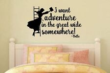 Inspired by Beauty and the Beast Wall Decal Sticker I want adventure in the grea