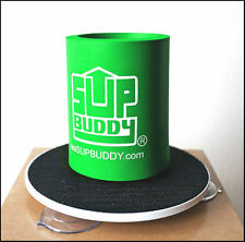 SUPBUDDY PADDLE BOARD DRINK HOLDER, SUP Accessory, Suction Attached, Green *New*