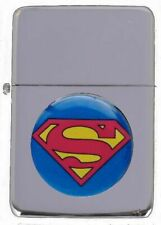 SUPERMAN PETROL FLIP LIGHTER WITH PRESENTATION TIN & SLEEVE