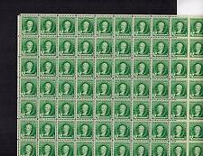 #884 1¢ Gilbert Stuart Famous American Artist Full sheet of 70 MINT NH OG