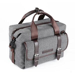 K&F Concept DSLR shoulder bag for Canon Nikon sony camera and lens travel work
