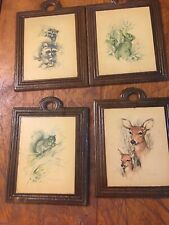 Paul Whitney Hunter Set Of 4 Prints Plaques