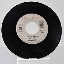 """45 RECORD 7""""- FOREIGNER - A NIGHT TO REMEMBER"""