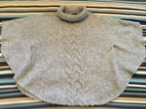 9-10 Years Girls Grey Knitted Poncho 🌺