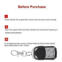 4 Keys Button Gate Garage Door Opener Remote Control 433MHZ Q0T8 Rolling-Co X6I2