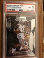 2019-20 Panini Prizm Zion Williamson RC Rookie #1 PSA 10 GEM MINT