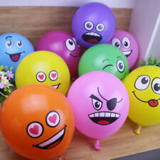 10pcs/Lot Latex Balloons Printed Big Eyes Smiley Happy Birthday Party Decoration