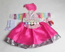 Korea baby girl pink hanbok DOLBOK first birthday traditional costumes doljanchi