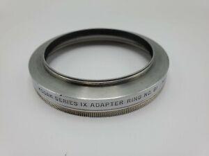 Kodak 72mm to Series 9 IX Step Up Filter Adapter No.91 w/ Retaining Ring - USA