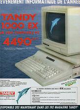 Publicité 1986  Ordinateur TANDY 1000 EX un vrai compatible PC
