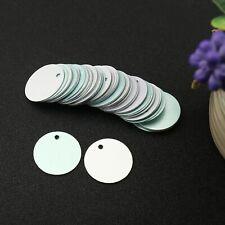 50PCS Metal Stamping Blanks Round Aluminum Tags 25mm Diameter for DIY Jewellery