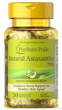 Puritan's Pride Natural Astaxanthin 5 mg-30 Softgels (free shipping)