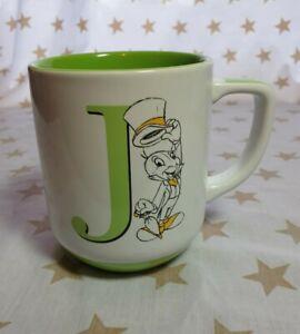 Disneyland Paris Jiminy Cricket  letter J Mug. Pinocchio. Exclusive mug.