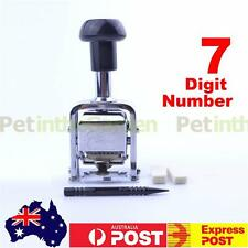 Self Inking 7 Digit Cap Stamping Automatic Numbering Machine Stick Stamp