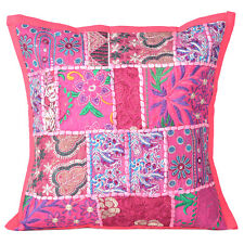 Cushion Pillow Patchwork Cover Indian Home Decor Vintage Khambadia Embroidery