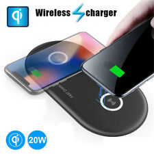 20W Dual 10W Qi FAST Wireless Charging Charger Pad For Huawei Mate 20 Pro iPhone