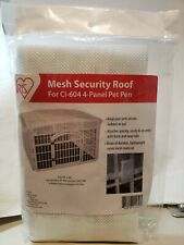 Iris Usa Mesh Security Roof, Designed For Use With The Iris 24'' 4-Panel Pet Pla