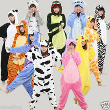 Unisex Adult Pajamas Kigurumi Cosplay Costume Animal Sleepwear Hoodie jumpsuits