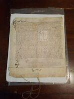 1455 Beautiful Antique Hand Written Latin Document Johannes Truchsess Beyerrod