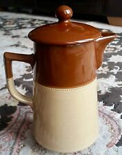 Antique Art Deco (1926) Lovatt's Langley Ware English Leadless Glaze Coffee Pot