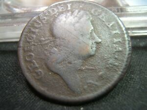 1723 Wood's Hibernia Half Penny Early Colonial Coin  Affordable!
