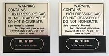 YAMAHA XT500C TT500C 1976 REAR SHOCK ABSORBER DECALS X 2