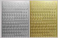 Aufkleber Buchstaben / Zahlen Sticker gotisch Starform 1155, 1156, 1157